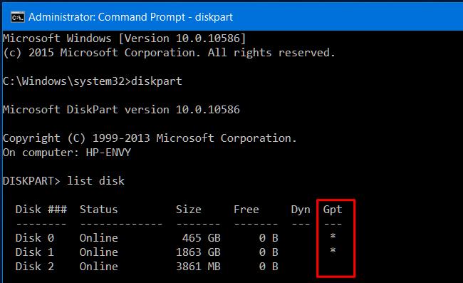 Convertir disque dur mbr en gpt