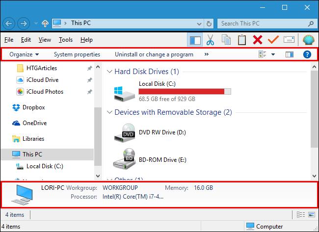 Comment faire de windows 10 l 39 explorateur de fichiers de for Fenetre explorateur windows 7