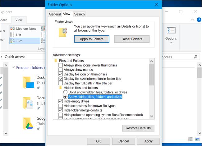 fichier échange windows 10